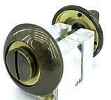 Фіксатор поворотний Armadillo WC-BOLT BK6-1AB/SG-6 бронза/матове золото, фото 2