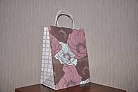 Подарочный пакет Весенний, бумага крафт, 22х29x14 см