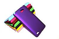 Пластиковый чехол для LG Max X155 фиолетовый