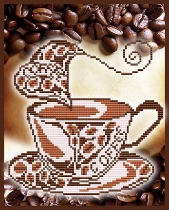"""Рисунок на ткани для вышивания бисером """"Ароматный кофе"""", фото 2"""