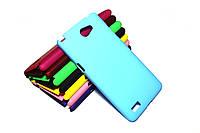 Пластиковый чехол для LG Max X155 голубой