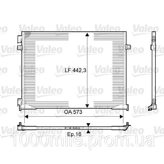 Радиатор кондиционера на Renault Trafic  06->  2.0dCi  —  Valeo (Франция) - VAL814172