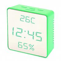 Часы электронные VST-887Y-6, термометр, будильник, влажность, календарь, зеркальные