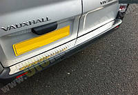 Накладка на задний бампер (прямая, без надписи) на Renault Trafic + Opel Vivaro 2001->  —  Турция