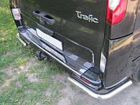 Накладка на задний бампер (изогнутая, без надписи) на Renault Trafic + Opel Vivaro 2001->  —  Турция