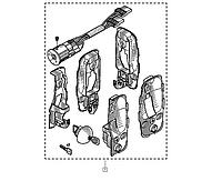 Комплект  5-ть замков + замок зажигания на Renault Trafic  2001-> (дверь распашёнка) — Renault - 7701208349