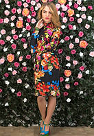 Платье женское с открытой спинкой, платье женское в цветочек.