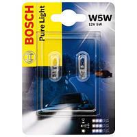 Комплект безцокольных ламп W5W   12V 5W  /Pure Ligft/ на Renault Trafic 01->  — Bosch  - 1987301026