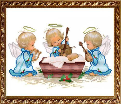 """Рисунок на ткани для вышивания бисером """"С Рождением мальчика"""", фото 2"""