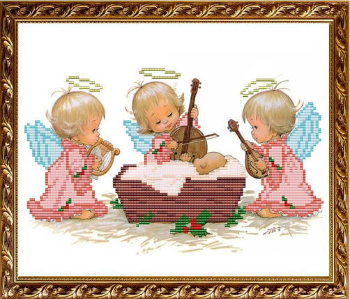 """Рисунок на ткани для вышивания бисером """"С Рождением девочки"""", фото 2"""
