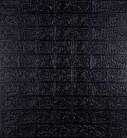 3Д панель під цеглу самоклеючі шпалери 3D самоклейка 70 * 77 см * 3 мм черний