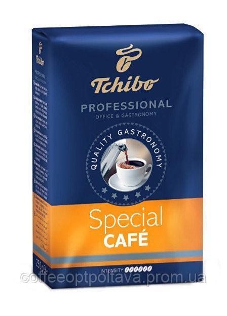 Кофе молотый темной обжарки и среднего помола Tchibo Special Cafe, 250г, Польша, смесь робусты и арабики