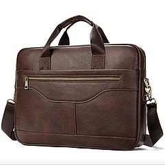 Мужская кожаная сумка портфель для документов Marrant - Коричневый