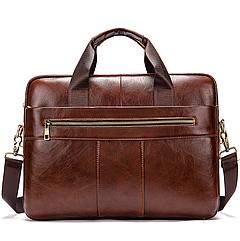 Мужская кожаная сумка портфель для документов Marrant - Светло-коричневый