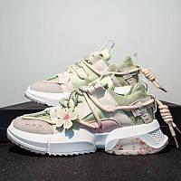 Мега стильные и модные подростковые детские взрослые кроссовки Flower Fairy (40 р.) новинка 2021г.