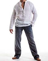 Рубашка свободного покроя лен, Пляжная льняная рубаха, фото 1