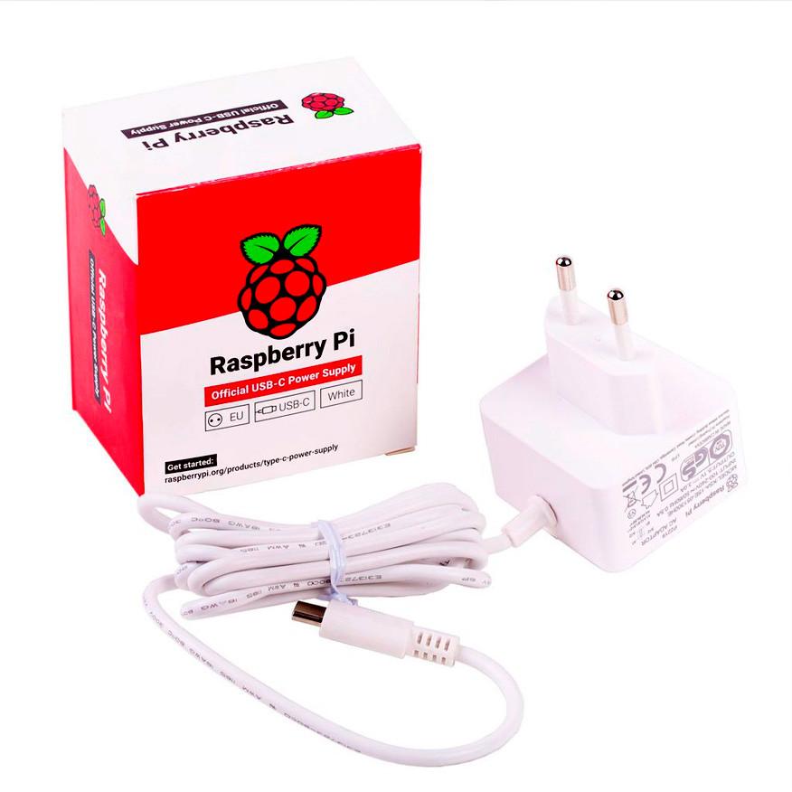 Блок питания Raspberry Pi 4 Model B, официальный, белого цвета