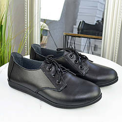 Мокасины женские кожаные. Цвет черный