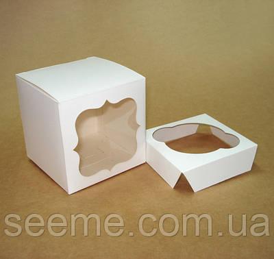 Коробка с окошком для 1 капкейка 85х85х85 мм.