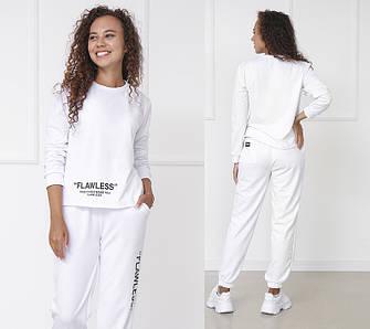 Костюм женские трикотажный двойка футболка и укороченные брюки