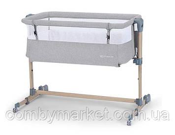 Приставная кроватка-люлька Kinderkraft Neste Air Grey Wood