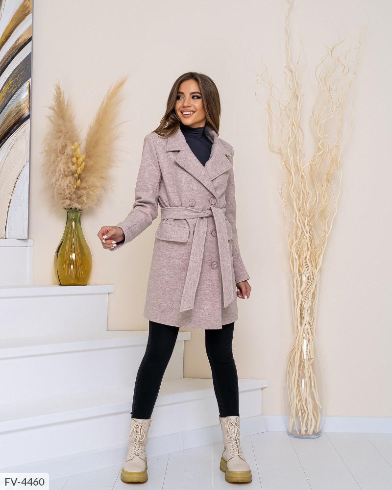 Женское Пальто под пояс шерстяное 42, 44, 46, 48