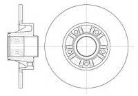 Комплект задних тормозных дисков (2 шт) на Renault Trafic 2001->  — Ferodo (Великобритания) - DDF1498
