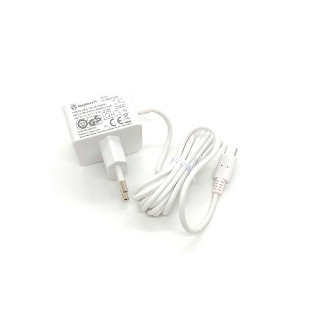 Блок живлення Raspberry Pi 4 Model B, офіційний, білого кольору