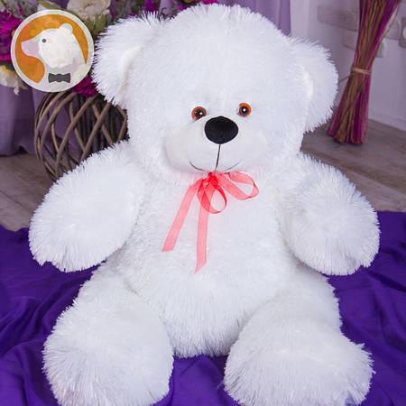 Плюшевый мишка Милашка, 90 см, белый. БЕСПЛАТНАЯ ДОСТАВКА