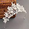 Свадебная диадема колье и серьги, набор бижутерии, свадебная бижутерия, аксессуары, фото 3