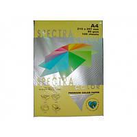 Бумага А4 SPECTRA (80 г/кв.м.) 100 лис., пастельный желтый