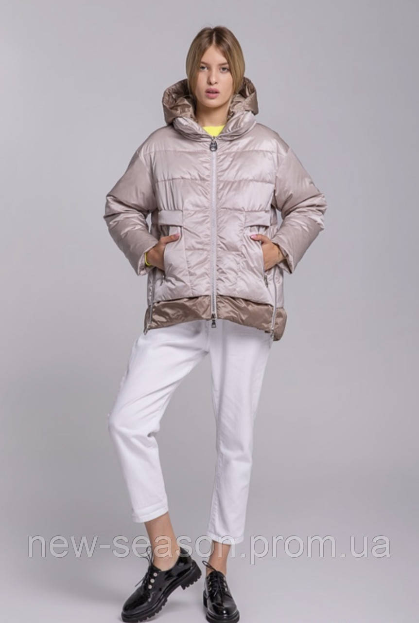Куртка демисезонная короткая Batterflei 2116 бежевая