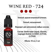 Пігмент для губ Wine Red - 724
