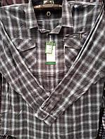 Рубашка байковая серая в крупную клетку