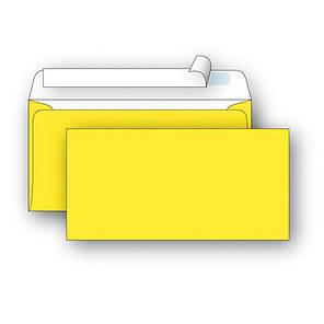 Конверт Е65 (DL) (110х220) скл, желтый (0+0), фото 2