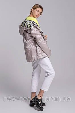 Куртка демисезонная Batterflei 2103 бежевая двухсторонняя