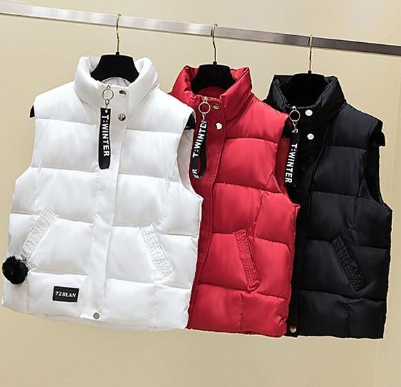 Женский осенне-зимний жилет куртка без рукавов оверсайз