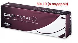 Контактные линзы Dailies Total 1 (однодневные), (30шт+10 шт) Alcon