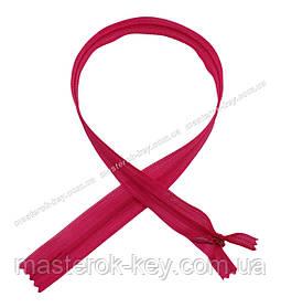 Блискавка потайна Тип 3 50см нераз'емна колір Яскраво-рожевий 648