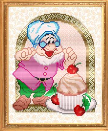 """Рисунок на ткани для вышивания бисером """"Мой рецепт. Готовим пироженое"""", фото 2"""