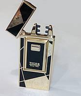 Двухимпульсная подарочная USB зажигалка Tiger