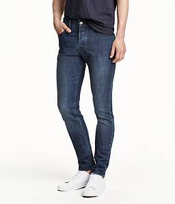 Джинси H&M DIVIDED Man - Classic Skinny Blue2 (мужские джинсы)