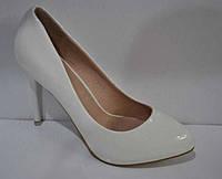 Белые туфли женские-лодочки Киев