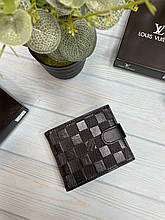Шкіряний чоловічий гаманець Louis Vuitton Луї Віттон з коробкою портмоне Луї Віттон