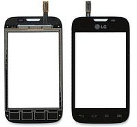 Оригинальный тачскрин / сенсор (сенсорное стекло) для LG Optimus L40 Dual SIM D170 (черный цвет)
