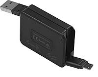 Кабель Promate Yank-M microUSB-USB 0.9 м Black