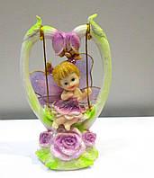 Оригинальный подарок статуэтка Девочка Фея на качеле
