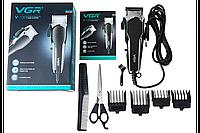 Профессиональная машинка для стрижки VGR V-130 от сети 4 насадки для стрижки волос стрижек бороды