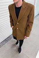 Мужское пальто демисезонное молодежное (капучино) повседневная мужская одежда plt16