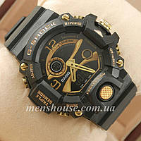 Бюджетные часы G-Shock Triple Sensor Black/Gold
